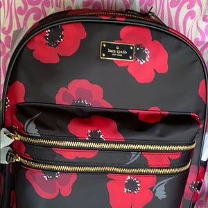 Kate Spade back pack  bradley Wilson road poppy